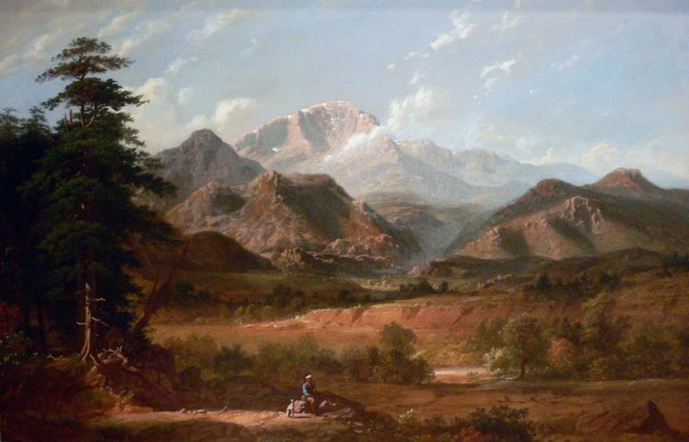 George Caleb Bingham - View Of Pikes Peak - 1872