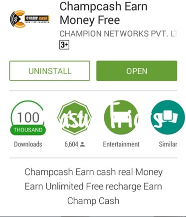 Install the Champcash App.