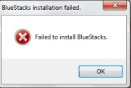 Failed to Install Bluestacks