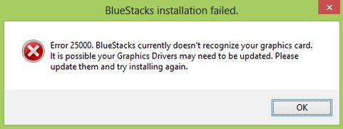error 25000 bluestacks