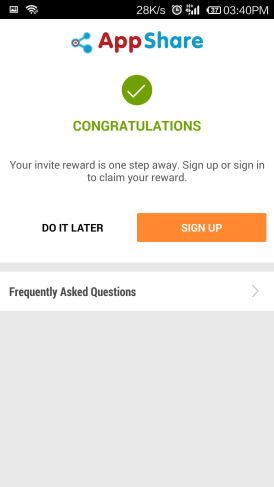 signup on snapdeal