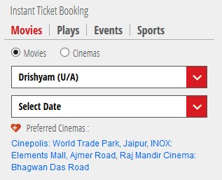 Bookmyshow movie money coupons