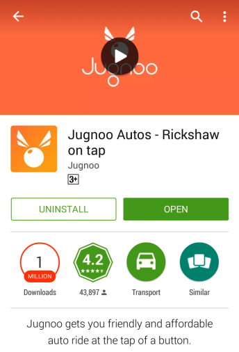 First Download Jugnoo App: Jugnoo Auto, Download Jugnoo for Android.