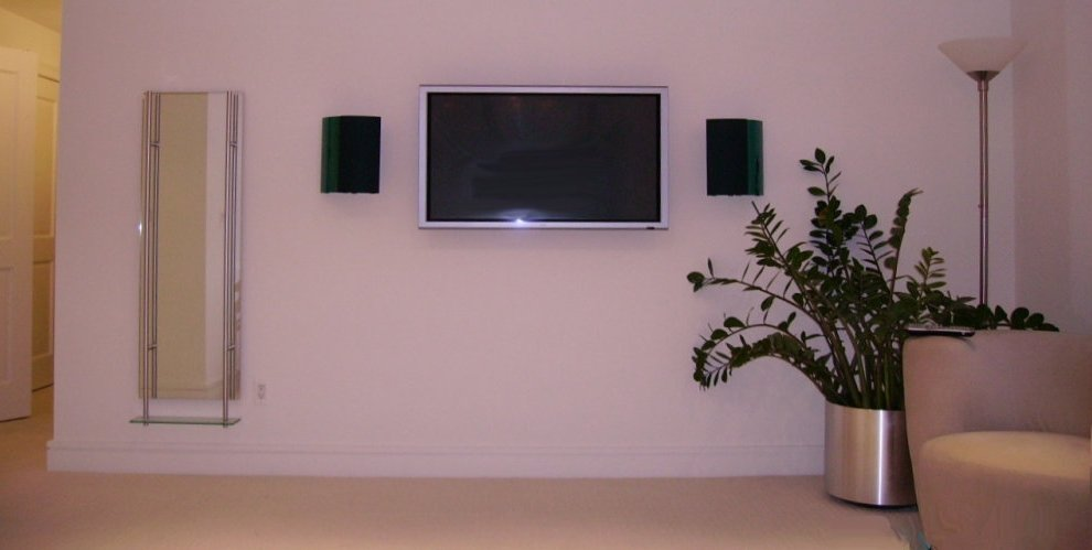 Low Profile HD LEC TV adn Sound System