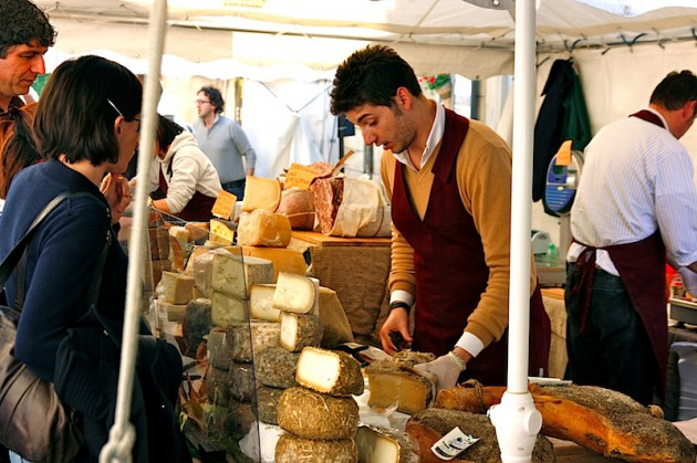 Cheese stall in Arezzo