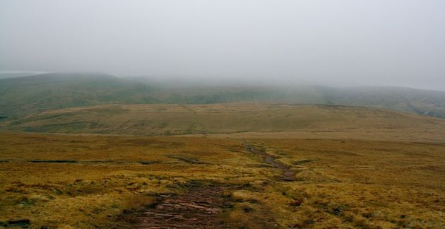 The route down Pen y Fan