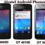 Alcatel Launches OT-4005D, 4010E, 5020E Android Phones