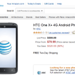 AT&T HTC One X+ via Amazon Now at $ 80