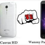 Micromax Canvas HD vs Wammy Passion Y HD Phone – Specs, Features Comparison
