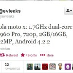 Motorola Moto X Specs Leaked with 1.7 Ghz Dual Core & Android 4.2.2