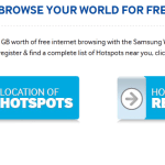 Samsung Galaxy Grand 2 Free WiFi Hotspot Offer – 5 GB Free