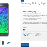 Samsung Galaxy Alpha Canada via Bell & Virgin Mobiles