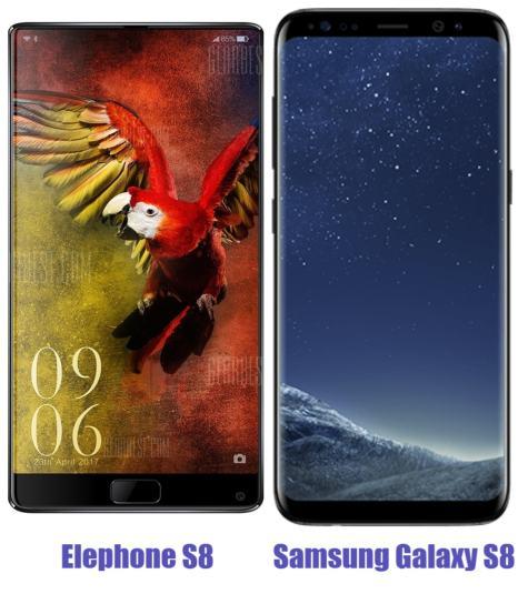 Elephone S8 Vs Samsun Galaxy S8