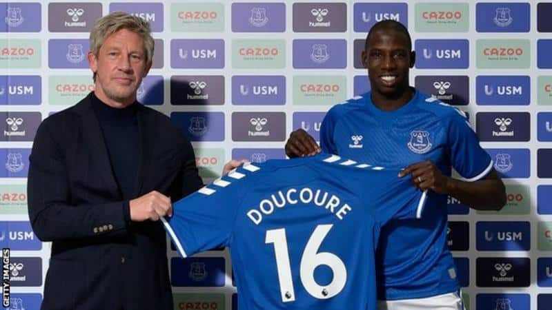 Everton confirm the signing of Abdoulaye Doucoure from relegated Watford