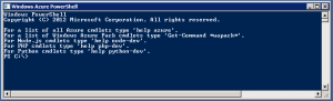 Windows Azure PowerShell