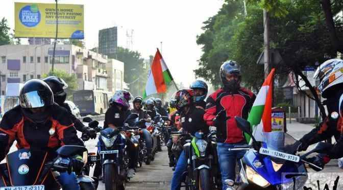 Ride for 'Mission Safer Roads' conducted by Pune based biking clubs