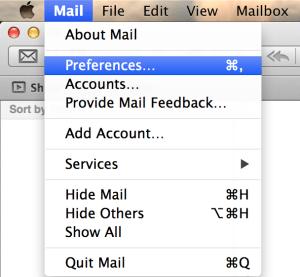 Apple Mail App Preferences