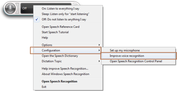 Speech Recognition Improve
