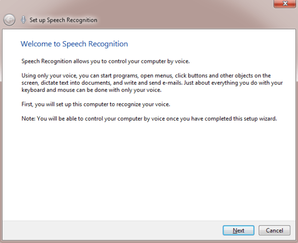 Speech Recognition Welcome
