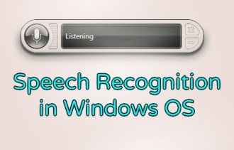 Speech Recognition Windows OS