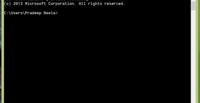 Command Prompt on Windows PC