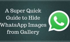 Hide WhatsApp Images from Gallery in Android & iPhone
