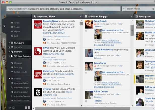 seesmic desktop How to post to multi social network simultaneously?