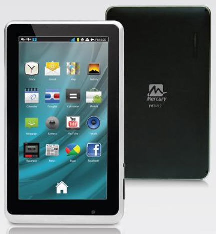 Mercury launches two new tablets: Mtab2 and Mtab Neo