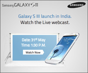 Watch live Samsung Galaxy S3 launch event in India