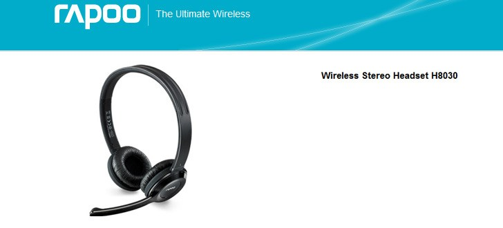 RAPOO H8030 2.4GHz Wireless Stereo Headphone w/ Microphone for Rs 3,949