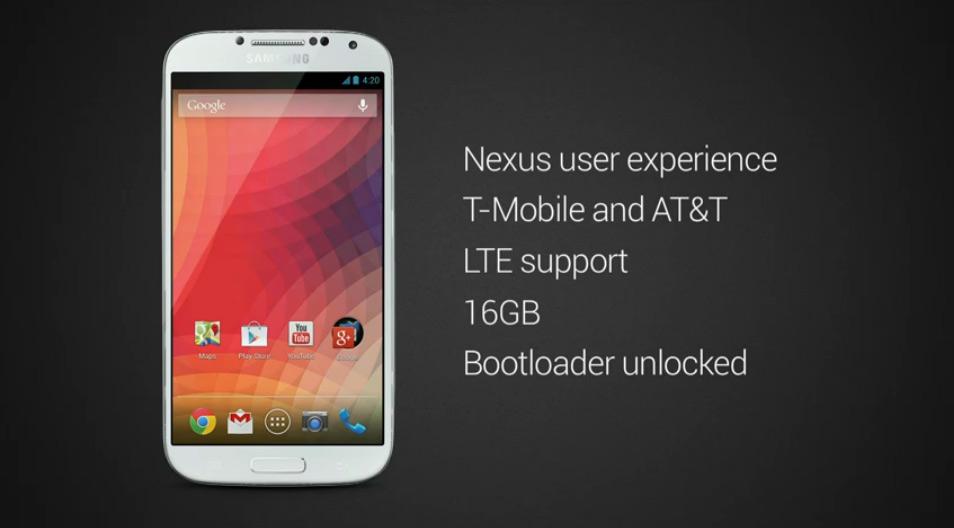 Samsung Galaxy S4 nexus edition