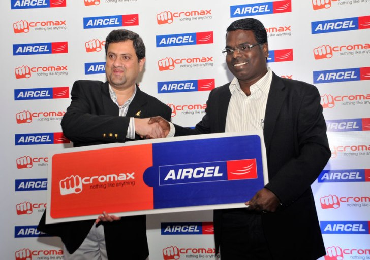 Aircel and Micromax handshakes to forge a strategic alliance