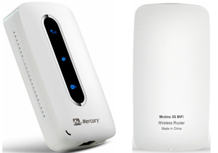 Mercury MiFi 3G Router combines an inbuilt Power bank