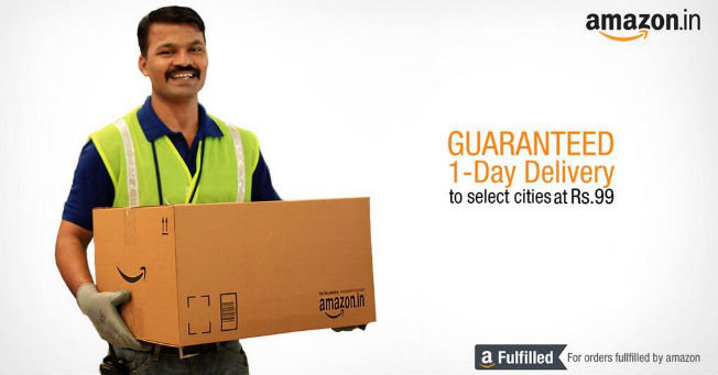 Amazon launches one-day delivery service in India for Rs 99