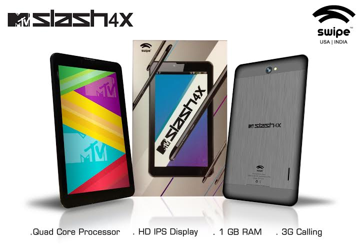 Swipe MTV Slash 4X, a 7-inch Quad core tablet launched for Rs 9,999