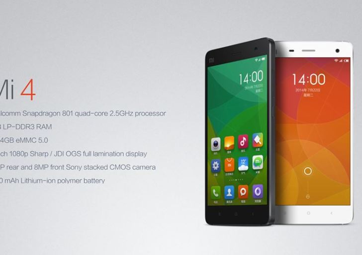Xiaomi Mi 4 launched in India; Priced at Rs 19,999 – Specifications & Features