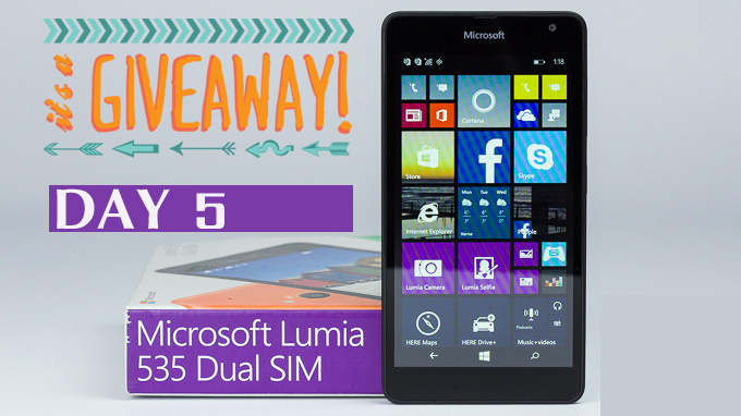 Giveaway : Day 5 Question to Win a Lumia 535 #AchieveMore