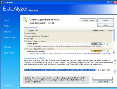 eulalyzer-personal-scan-results