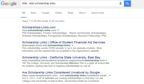 edu scholarship links