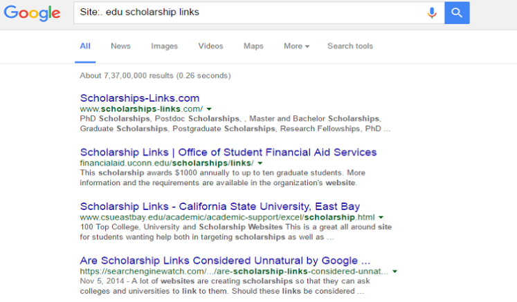 edu scholarship links