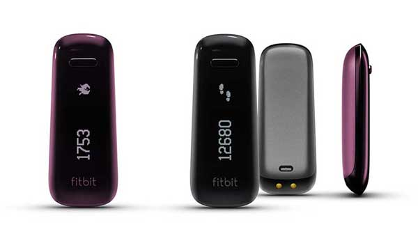 Fitbit One, in the black and plum colours