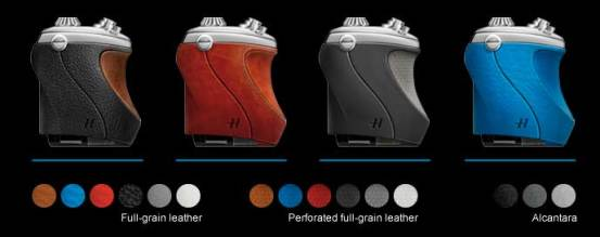 Hasselblad Lunar mirrorless camera, colour choices of the leather grip