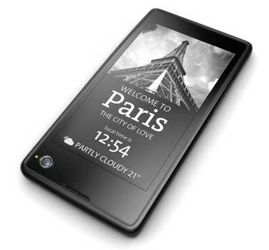 YotaPhone e-ink screen