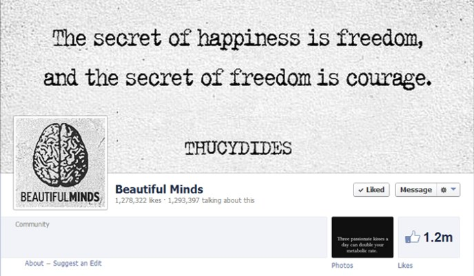 beautiful minds facebook page Top 10 Popular Pages to Follow on Facebook
