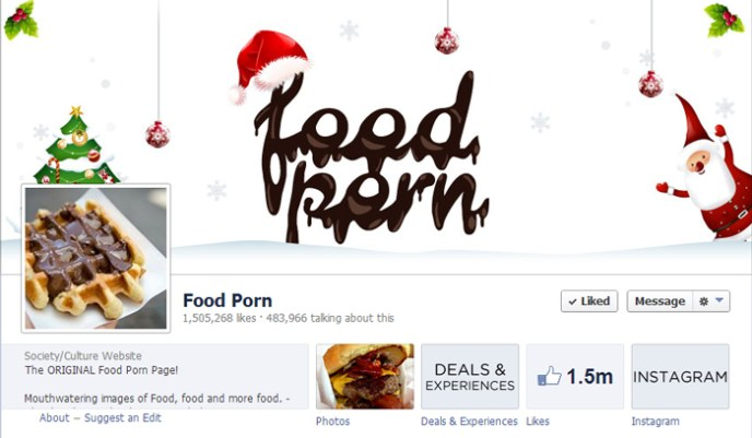 food porn facebook page Top 10 Popular Pages to Follow on Facebook