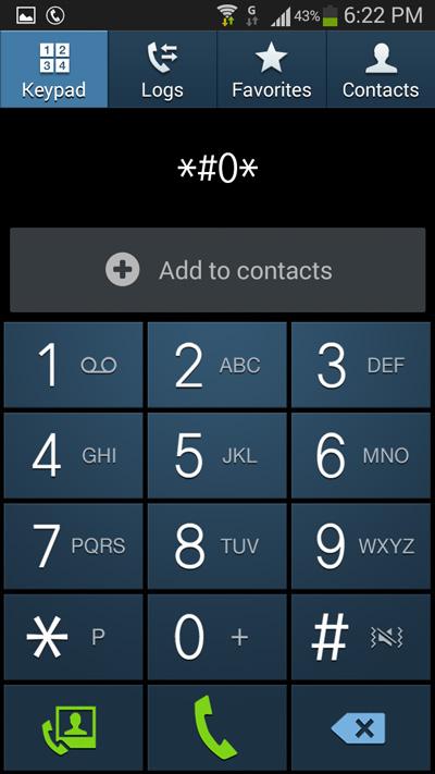 Samsung Galaxy S4 Text Screen