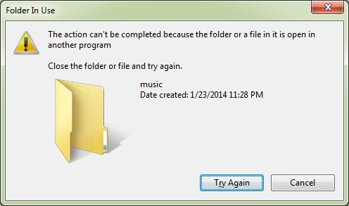 how to delete locked files on windows 7