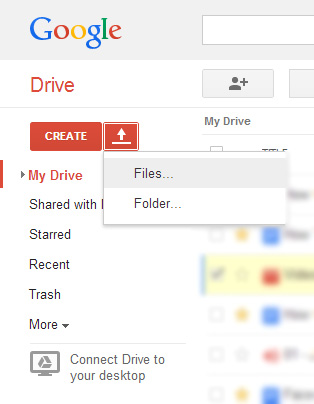 upload file to google drive How To Share Large Files over the Internet with Google Drive