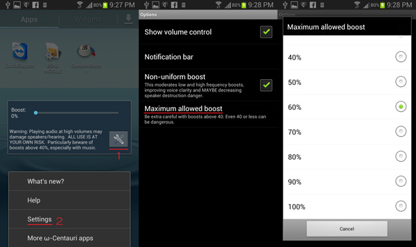 increase your android phone s audio output with speaker boost hd on net