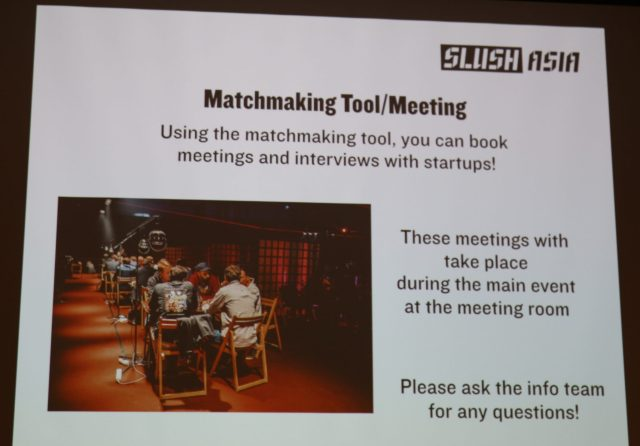 slush asia matchmaking